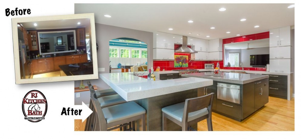 Photo By RI Kitchen & Bath. Red Hot Kitchen