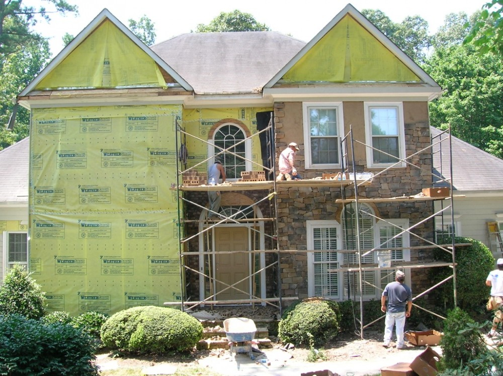 Photo By Painting Plus Inc.. Stucco Removal