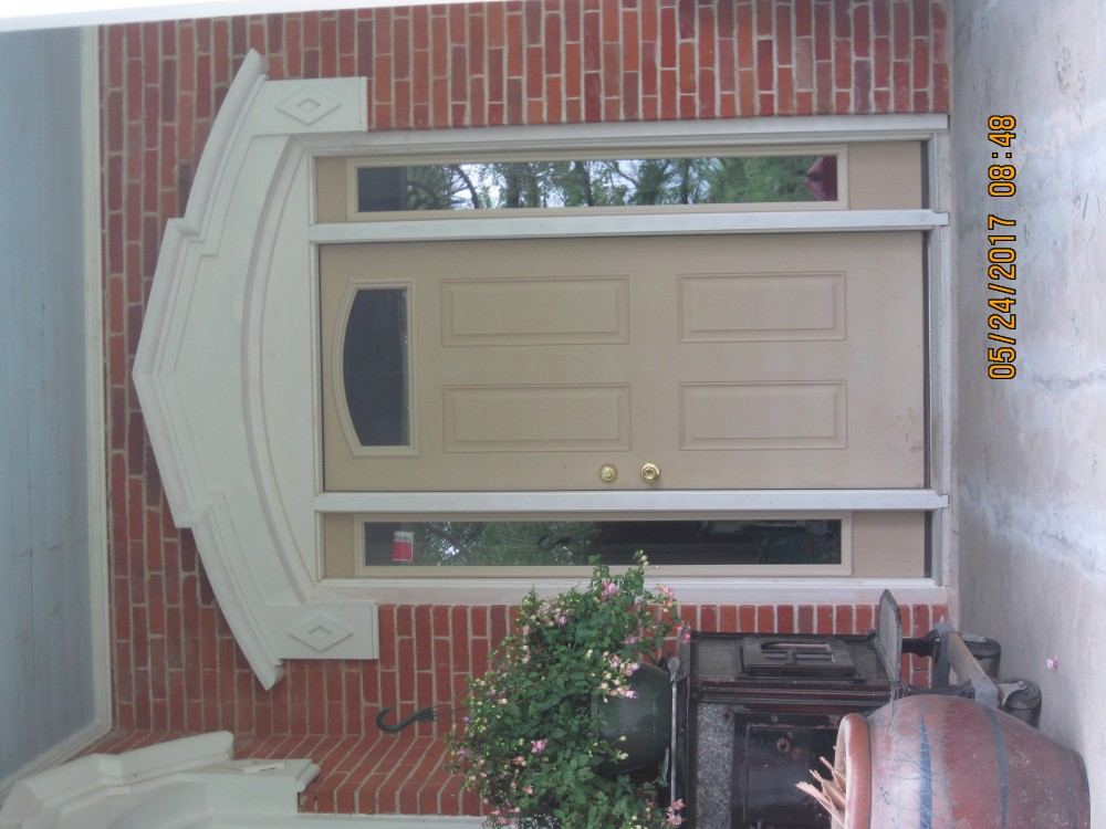Photo By Adams Architectural Millwork. Door Topper