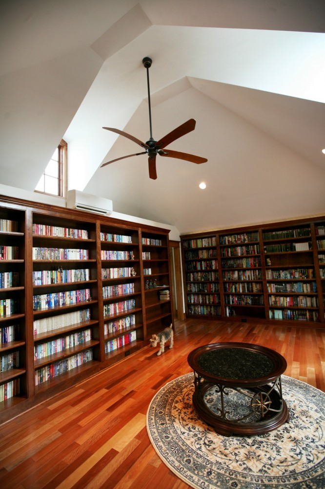 Photo By Real Remodels. I'On Garage Library Addition