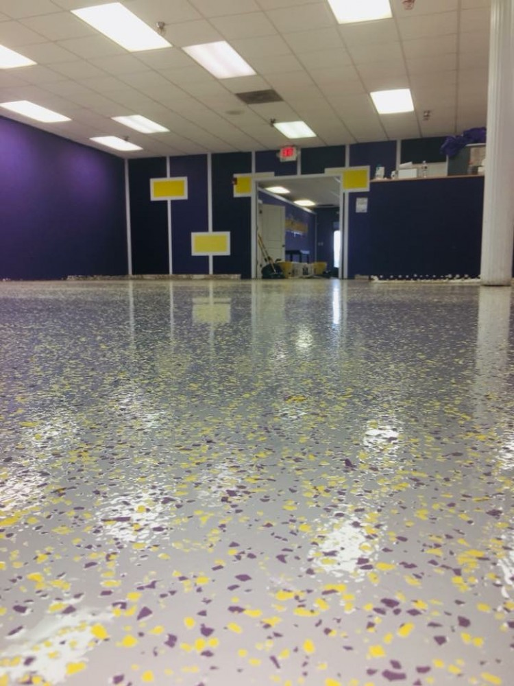 Photo By Columbus Garage Floor Coating. Commercial Floor - Super Games