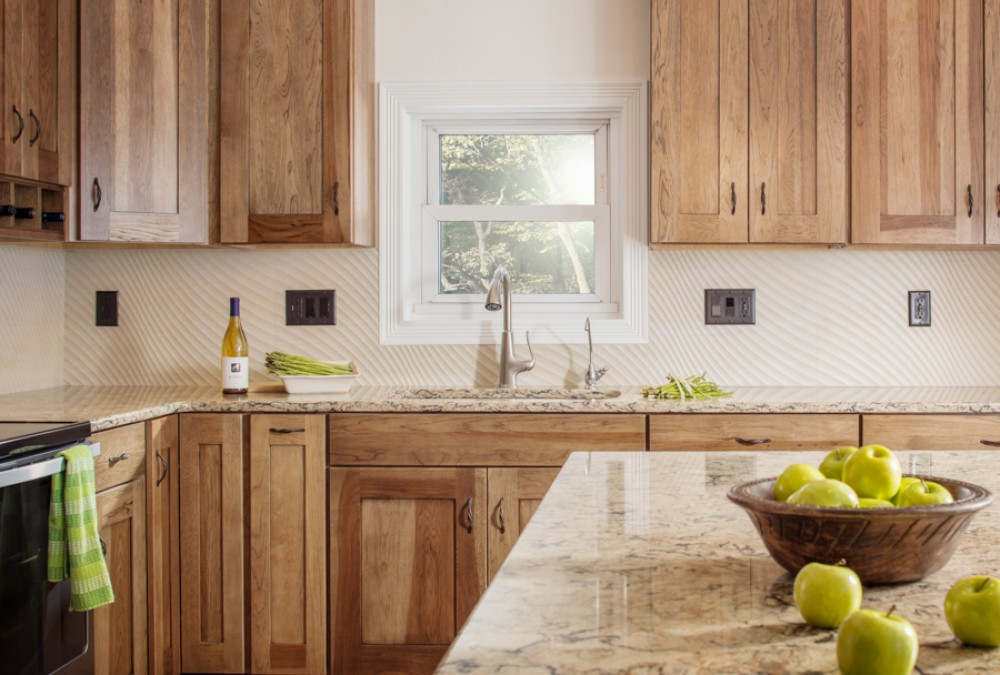 Photo By HC Remodel & Design. Hickory Kitchen