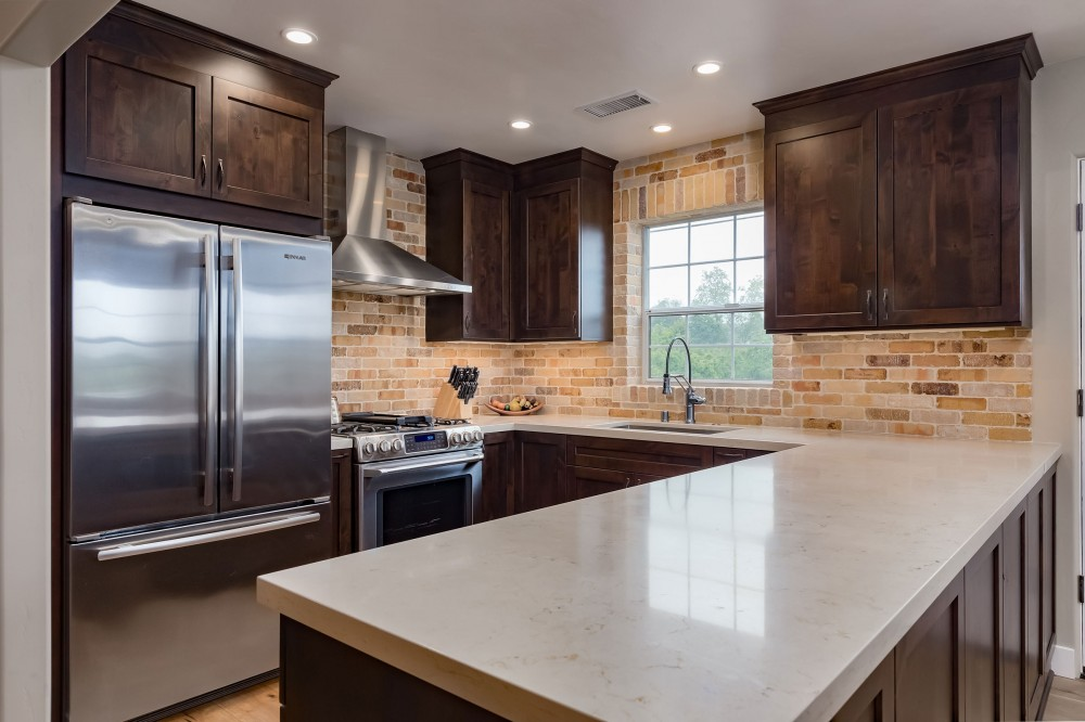 Photo By Talmadge Construction, Inc. Farmhouse Style Complete Home Remodel