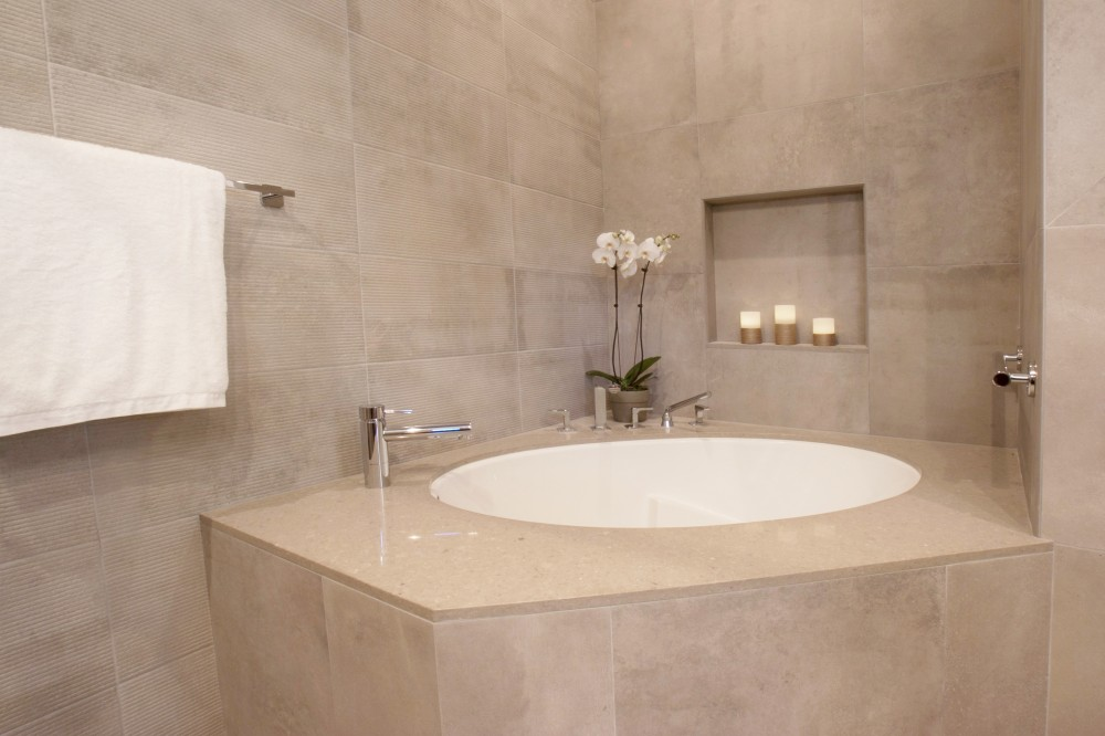 Photo By Talmadge Construction, Inc. Universal Design Bathroom With Modern Style