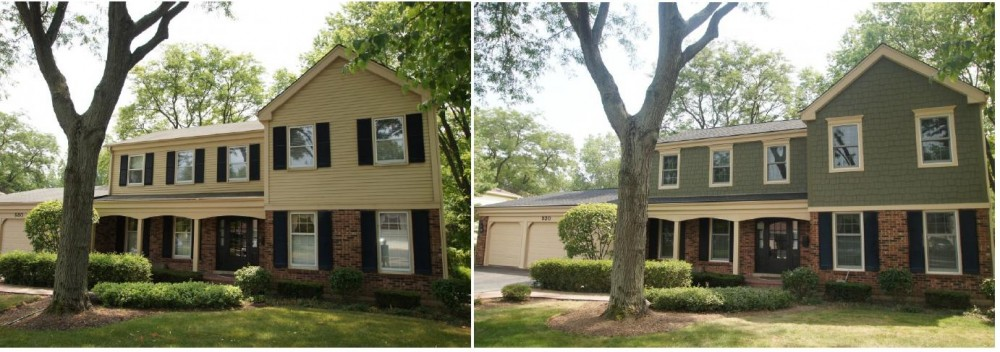 Photo By Wilson Home Restorations. Before/After