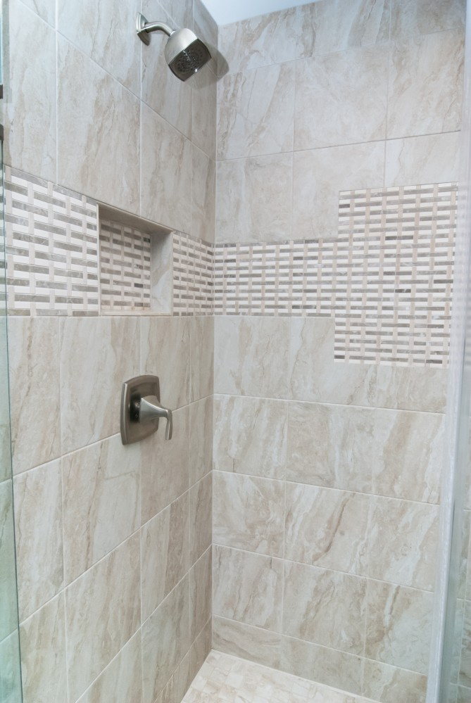Photo By Gabor Design Build. Germantown Tiled Showers