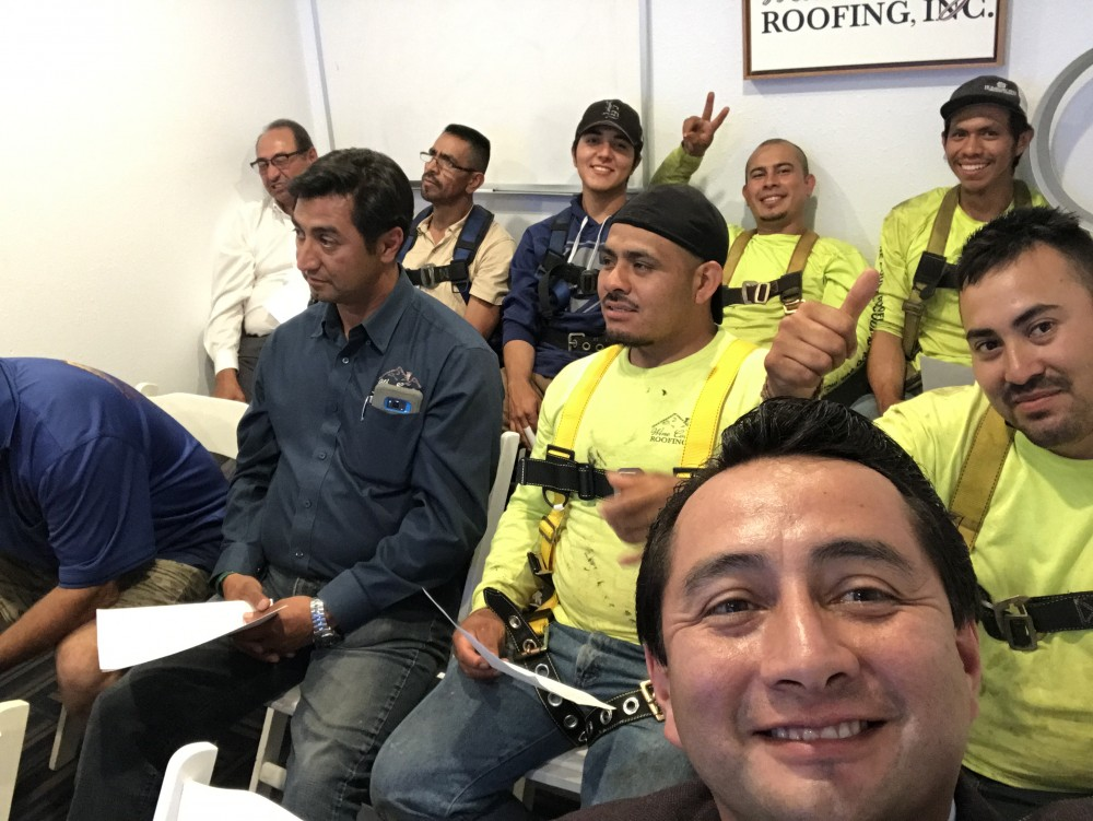 Photo By Wine Country Roofing. Crew Photo