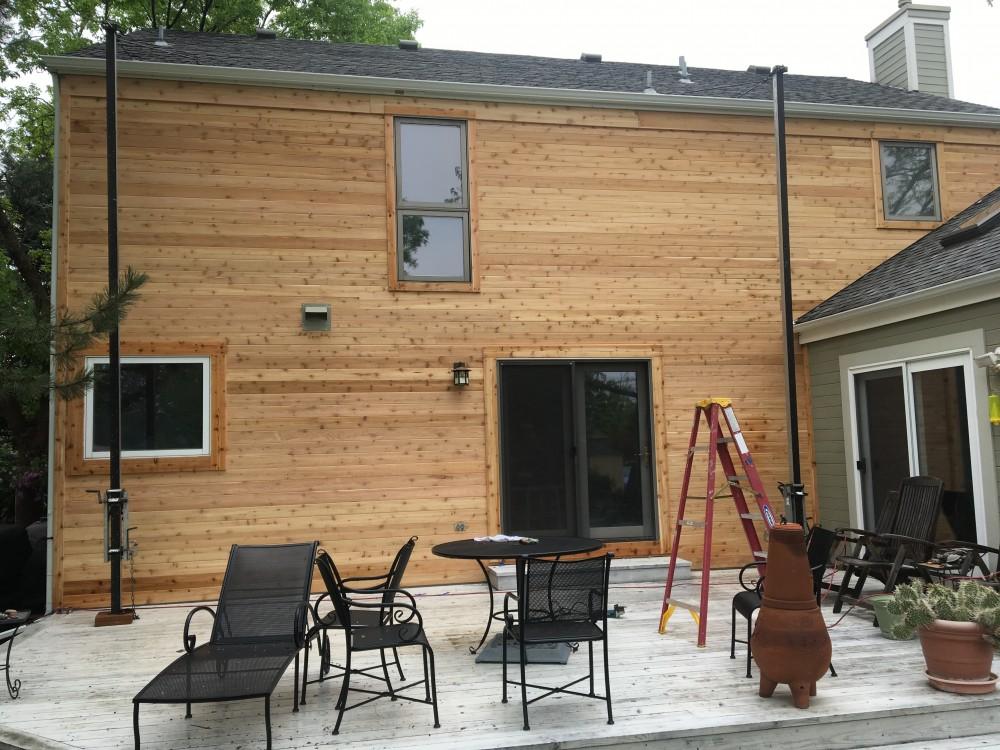 Photo By Paramount Siding & Windows. New Cedar Siding
