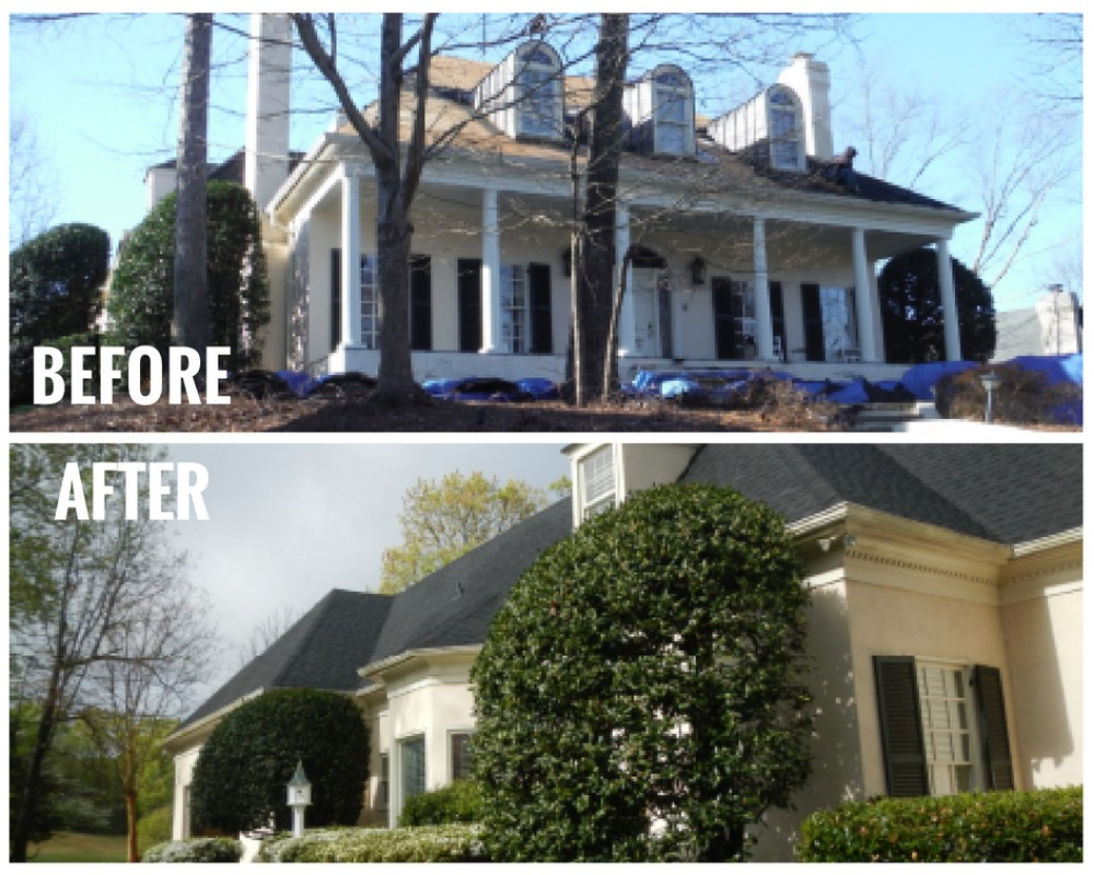 Photo By Signature Exteriors (NC). Roof & Gutter Replacement - Before & After