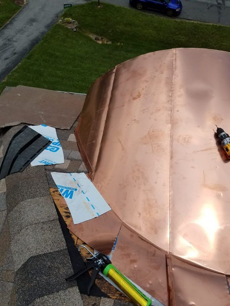 Photo By BRAX Roofing. Copper Roof Replacement