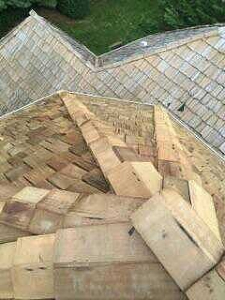 Photo By BRAX Roofing. Cedar Shake Roof Replacement