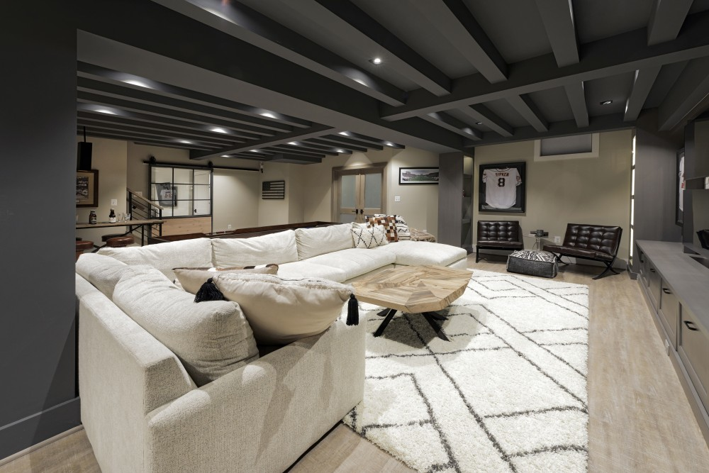 Photo By Metro Building & Remodeling Group. Finished Basement -
