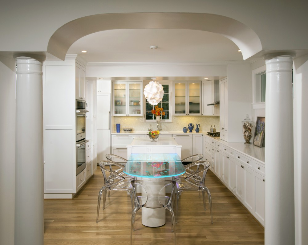 Photo By Landis Architects/Builders. Creative Eat-in Kitchen Solution