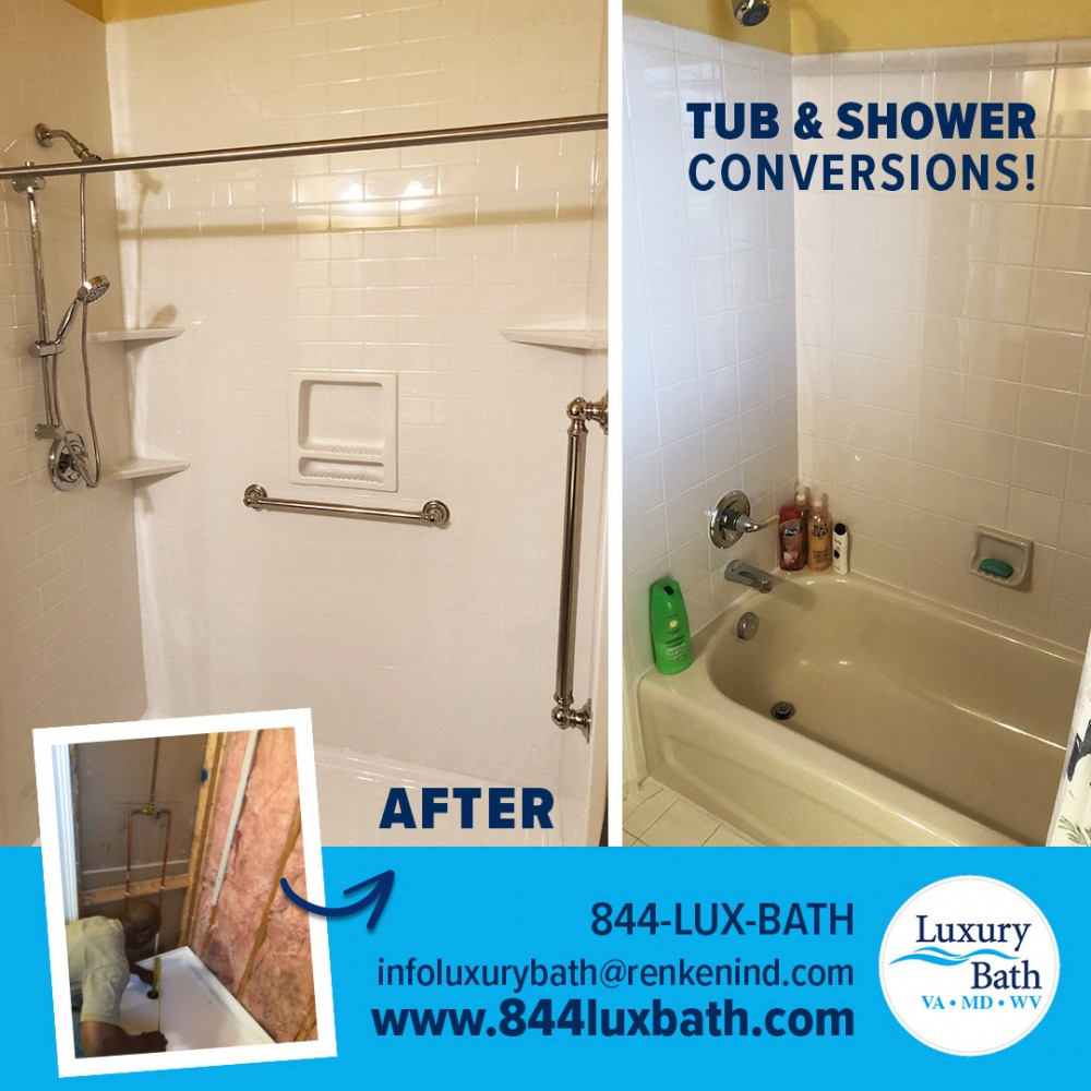 Photo By Luxury Bath Technologies By Renken Remodeling. Before & After