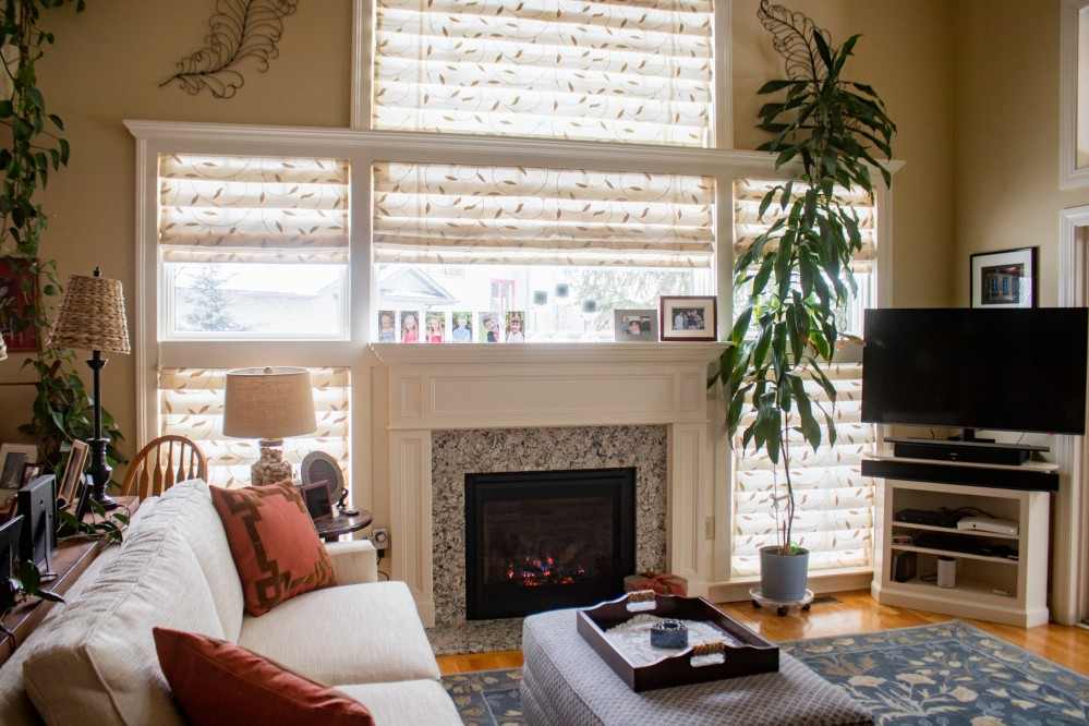 Photo By Dimon Construction Co Inc.. Window & Fireplace Remodel