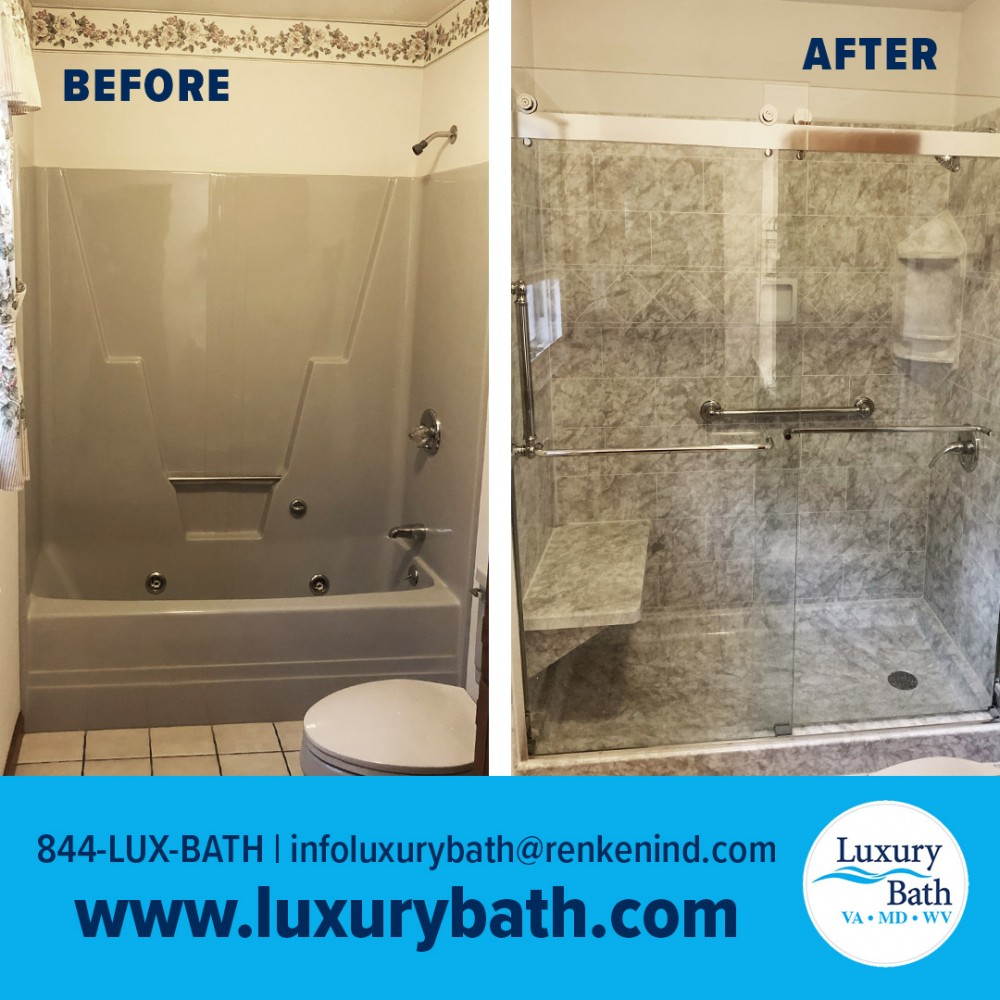 Photo By Luxury Bath Technologies By Renken Remodeling. Tub-to-shower Conversion