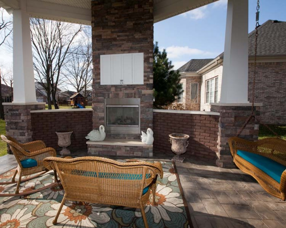 Photo By Bailey Remodeling & Construction, LLC. Project - Rhodes Outdoor Living Area