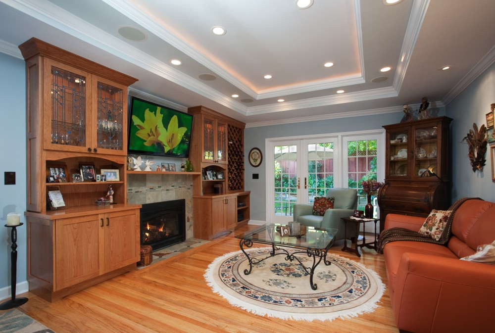 Photo By Valley Home Builders. Family Room