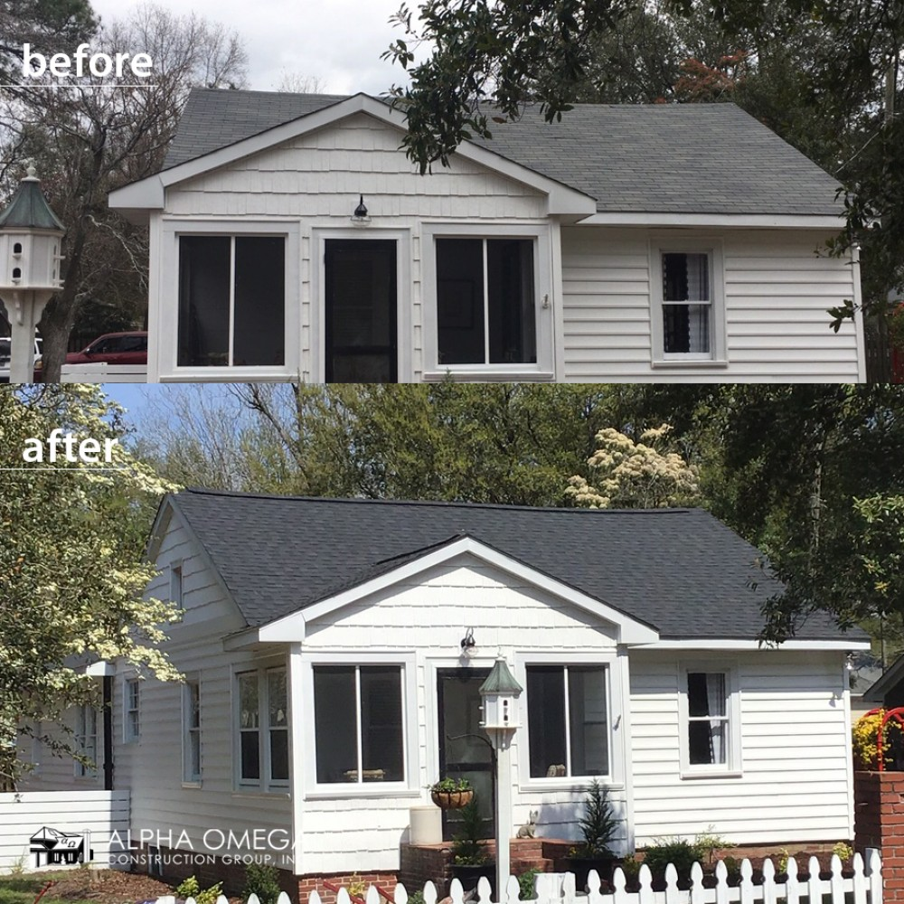 Photo By Alpha Omega Construction Group - Greenville. Before/After