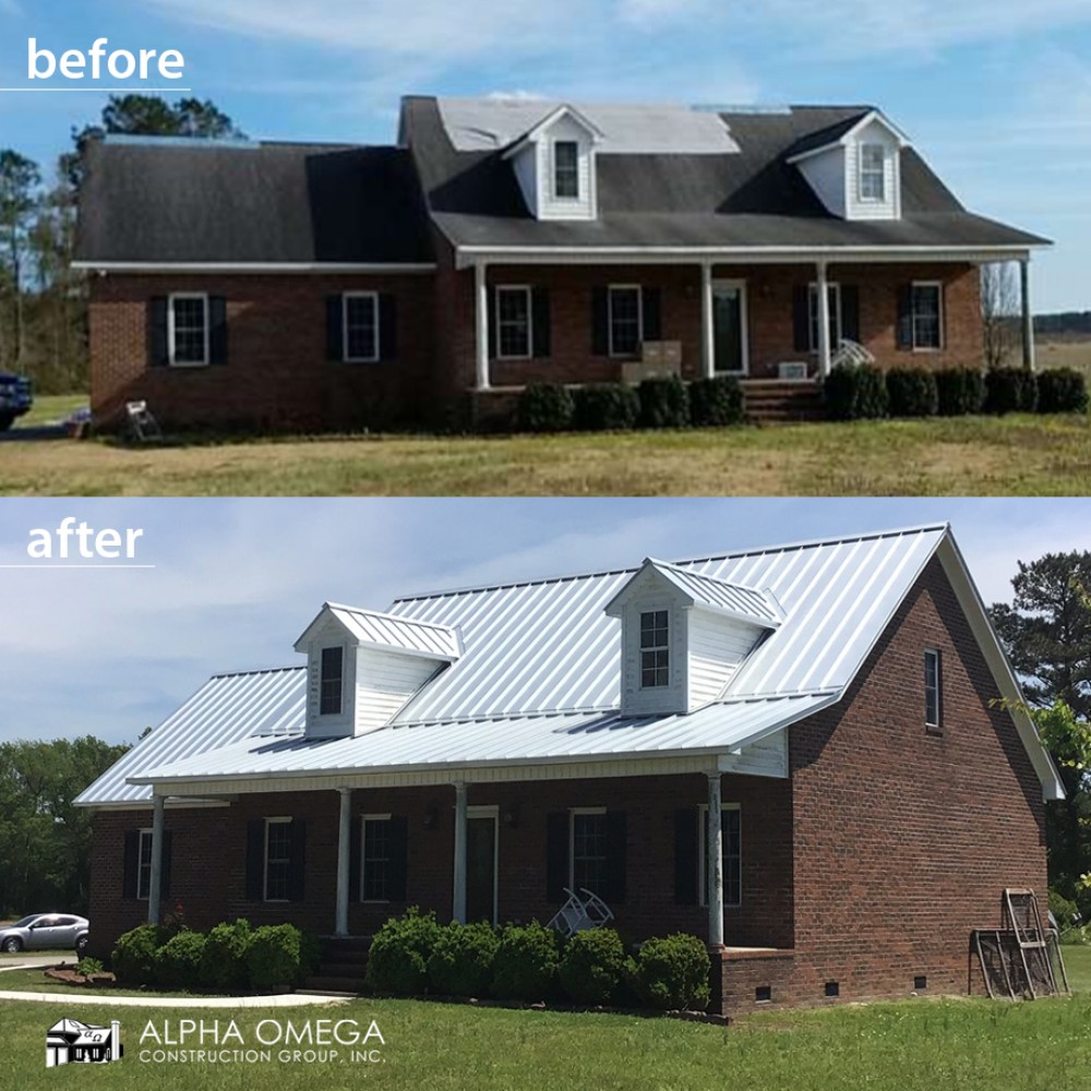Photo By Alpha Omega Construction Group - Wilmington. Before/After