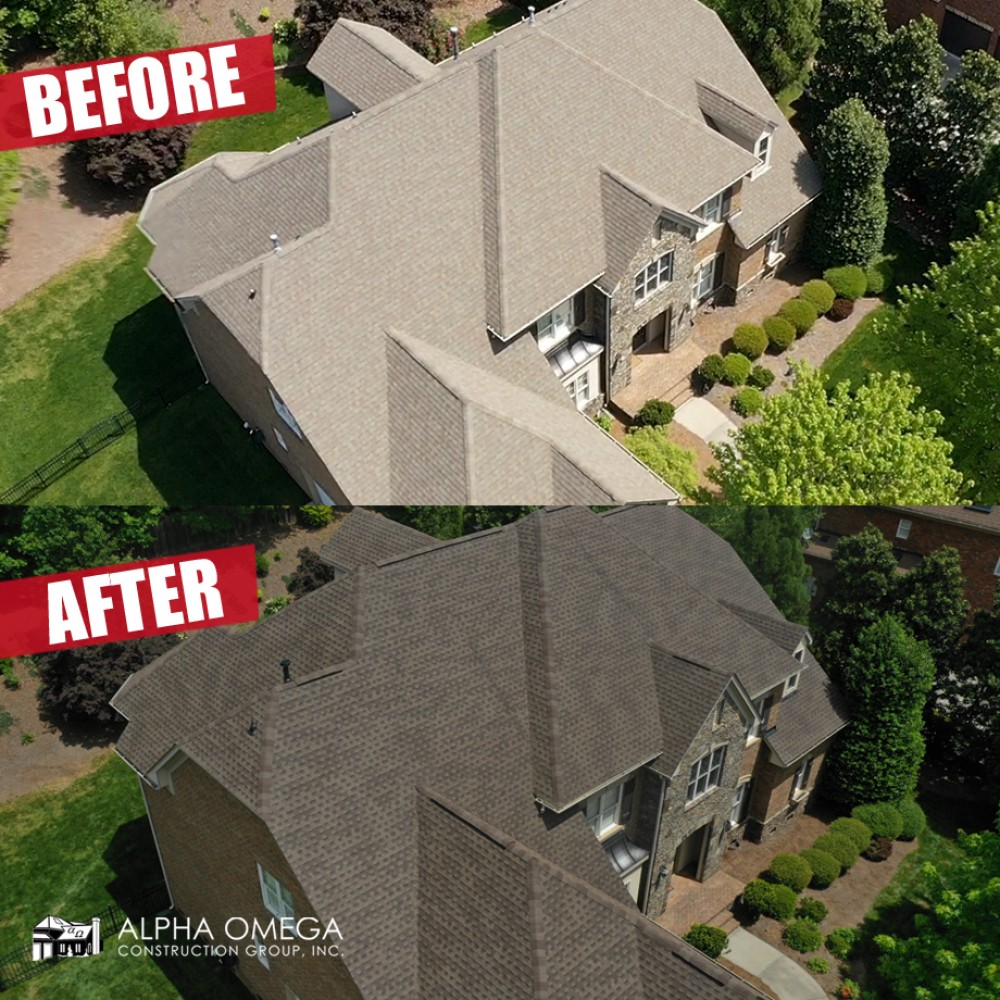 Photo By Alpha Omega Construction Group - Winston Salem. Before/After