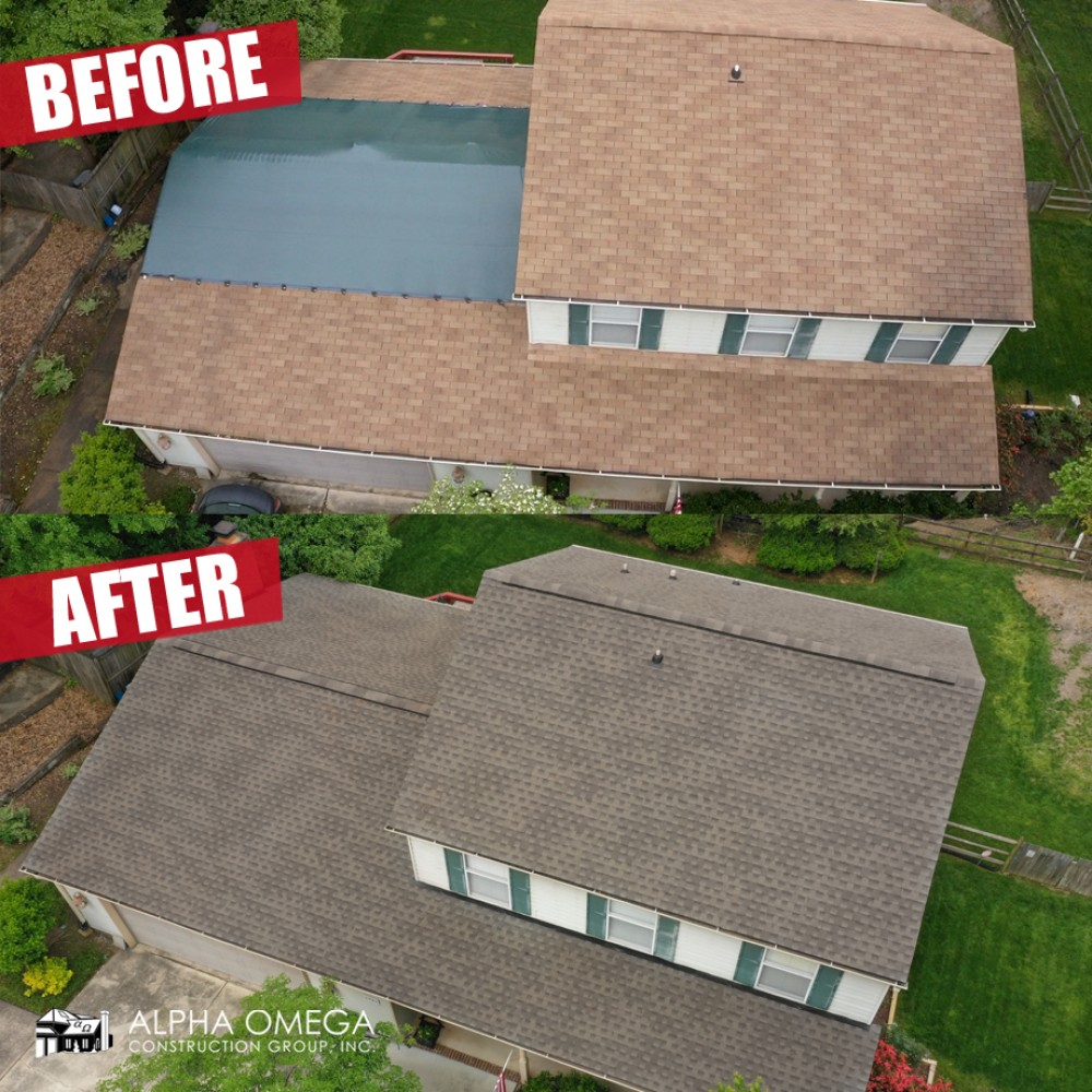 Photo By Alpha Omega Construction Group - Charlotte. Before/After