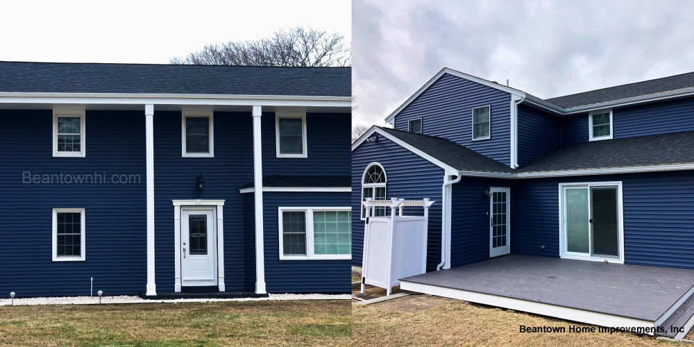 Photo By Beantown Home Improvements. New Roof, Doors, Vinyl Siding & Deck In Marshfield