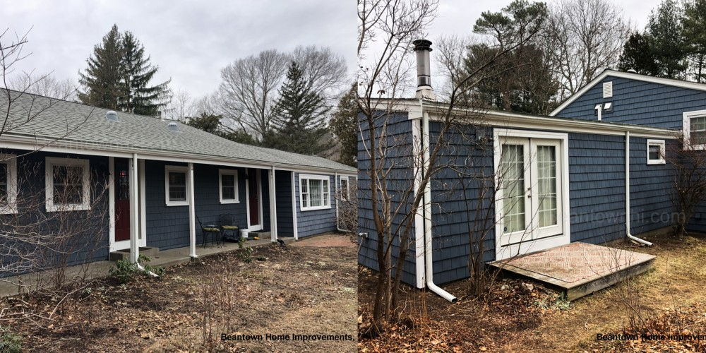 Photo By Beantown Home Improvements. New Vinyl Siding, Picture Window & Gutters In Hanover