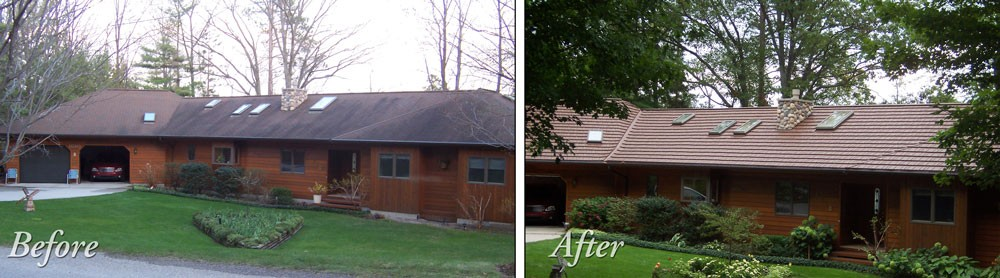 Photo By American Metal Roofs Inc.. Before & After