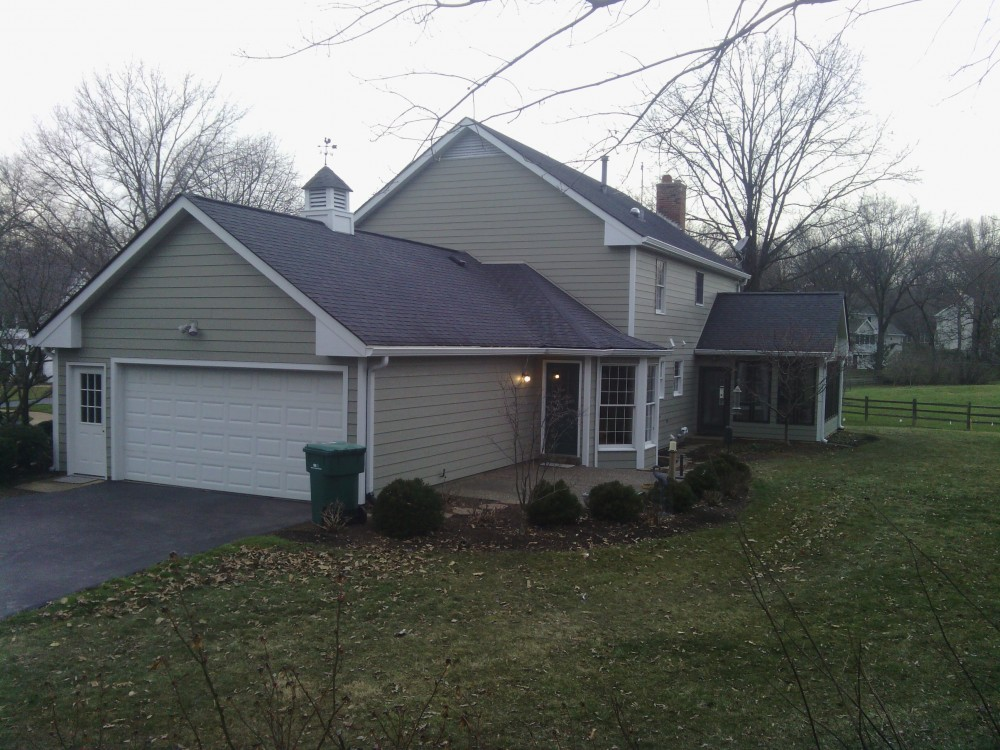 Photo By STL Siding Pros. Cedar Replaced With James Hardie Fiber Cement Siding, Webster Groves, MO