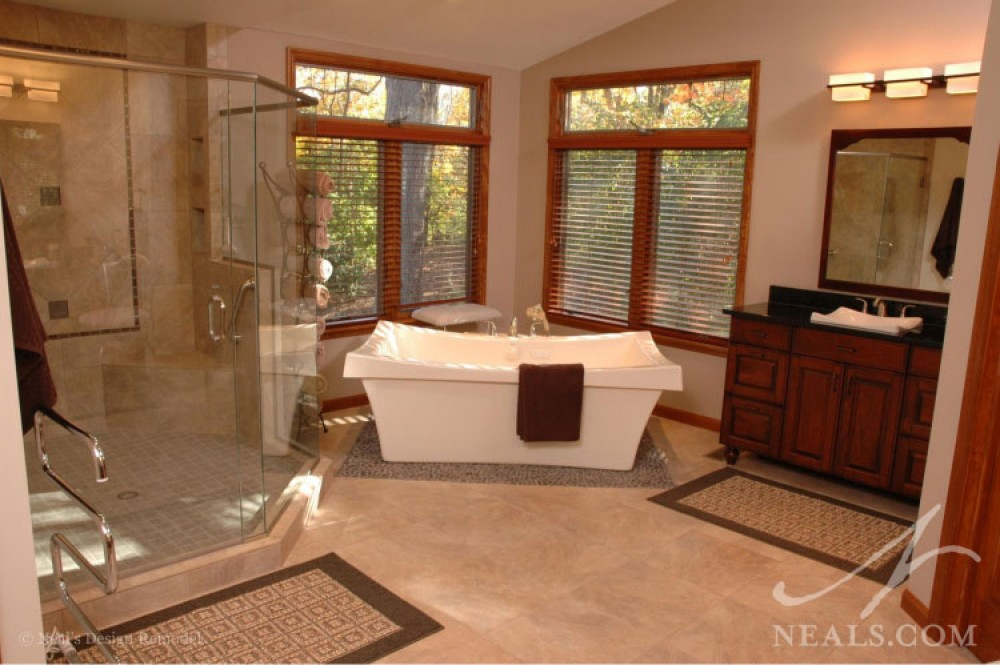 Photo By Neal's Design Remodel. Baths