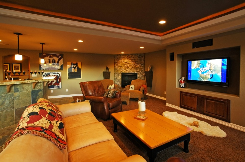 Photo By Aspen Basement Company. Aspen Basement Company - Home Theaters Photos