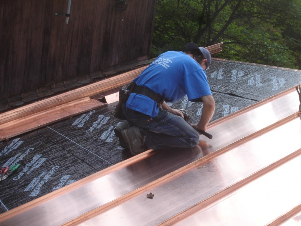 Photo By Fick Bros. Roofing & Exterior Remodeling Company. 2010 HBAM AWARD WINNER - Standing Seam Copper Roof