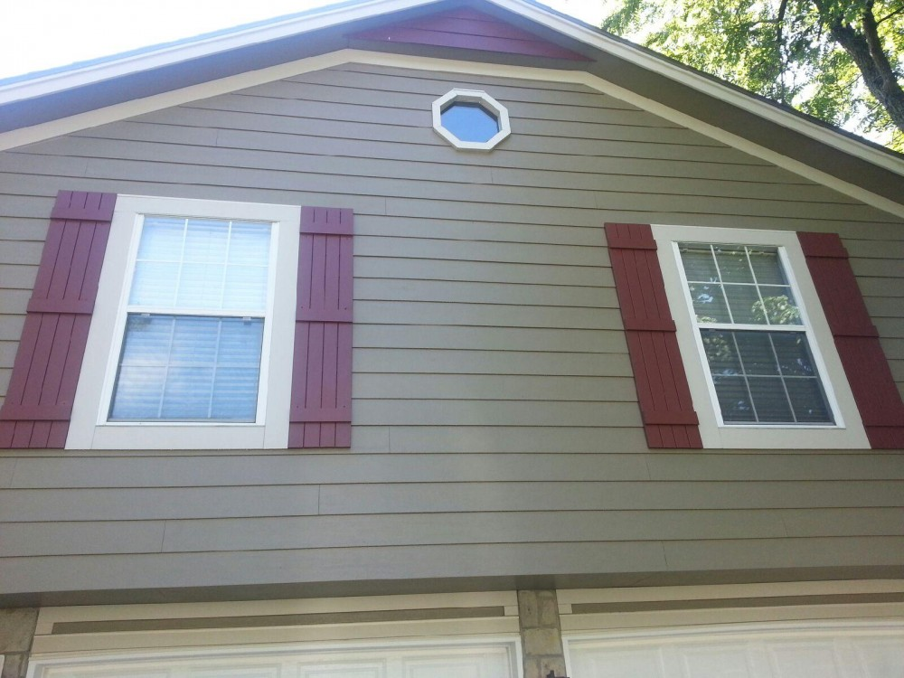 Photo By Integrity Roofing, Siding, Gutters & Windows. Complete James Hardie Color Plus System In Lees Summit, MO