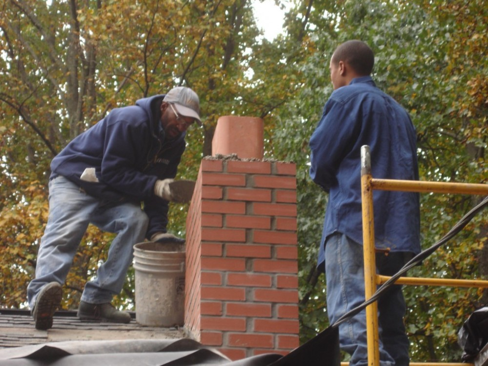 Photo By Fick Bros. Roofing & Exterior Remodeling Company. Stalmeyer - Ashpalt Shingles/Rebuild Chimneys