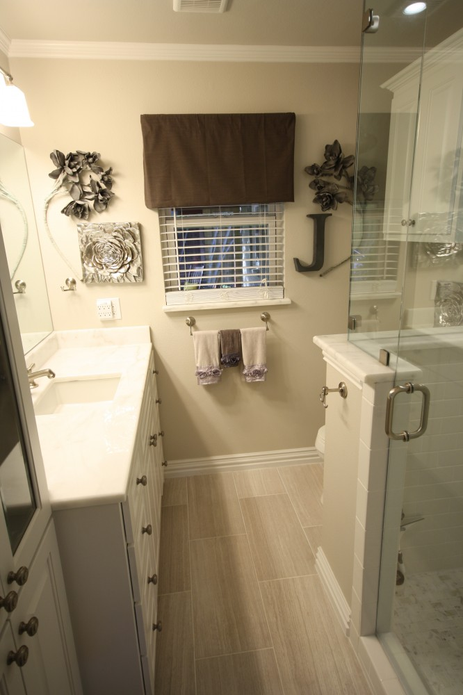 Photo By Hatfield Builders & Remodelers. Town Hill Master Bathroom