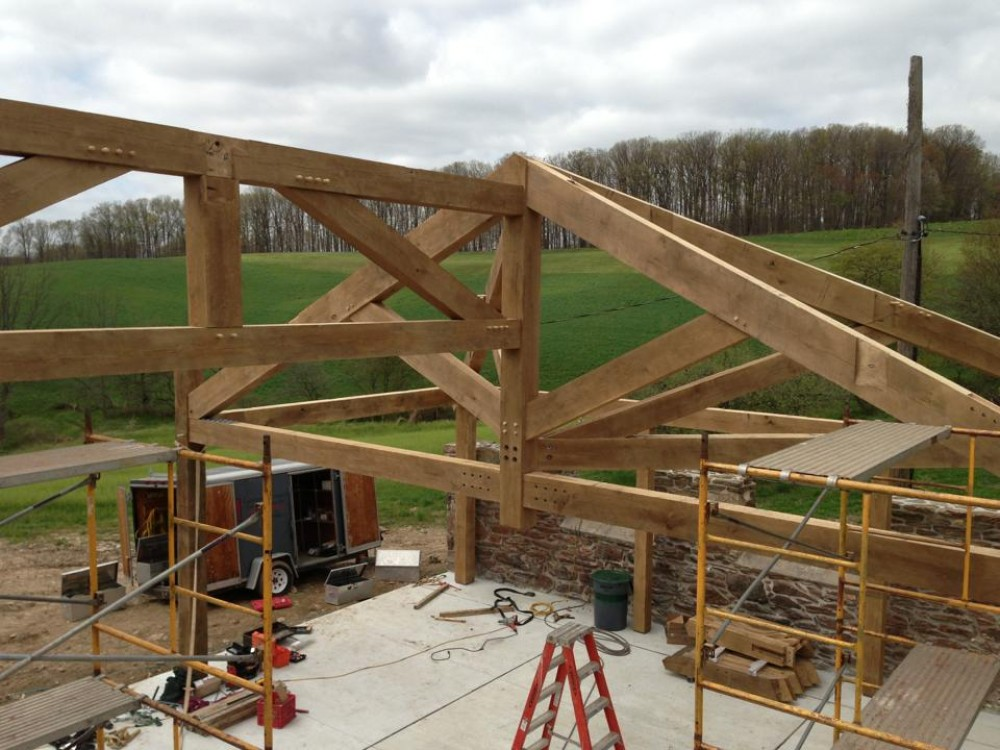 Photo By Lancaster County Timber Frames, Inc.. Timber Framed Pavilion