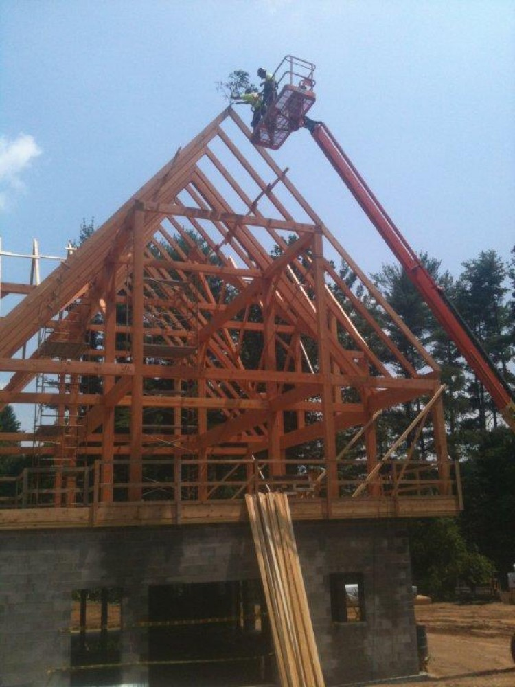 Photo By Lancaster County Timber Frames, Inc.. Timber Frame Barn