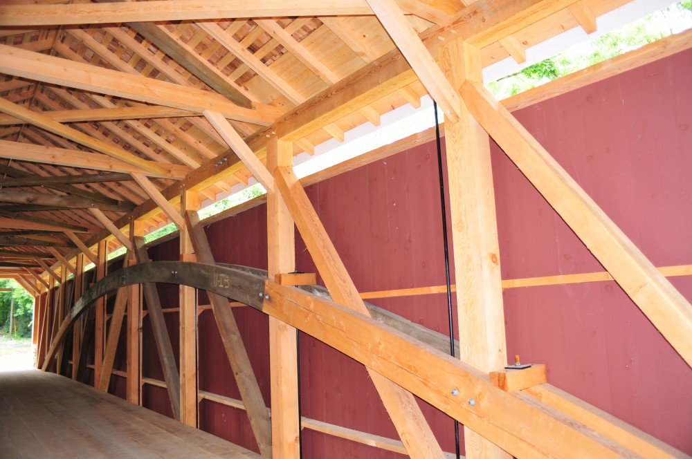 Photo By Lancaster County Timber Frames, Inc.. Replace Covered Bridge