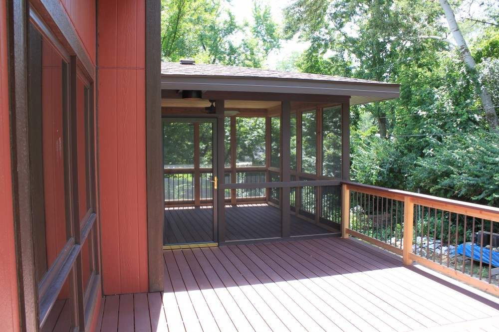 Photo By J&J Construction. Screen Porch & Deck