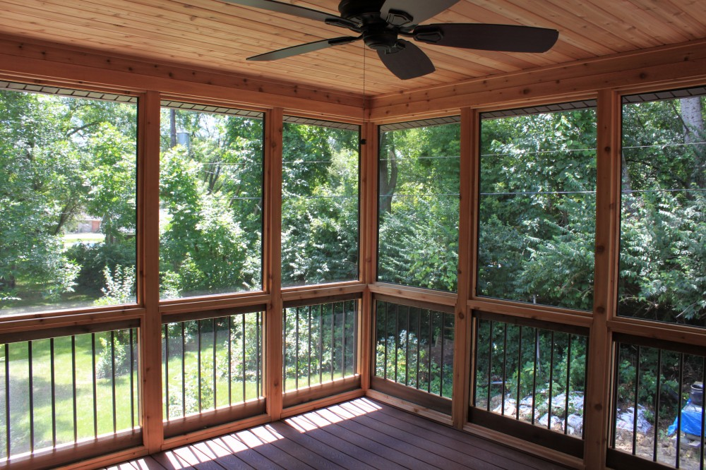 Photo By J&J Construction. Screen Porch & Deck