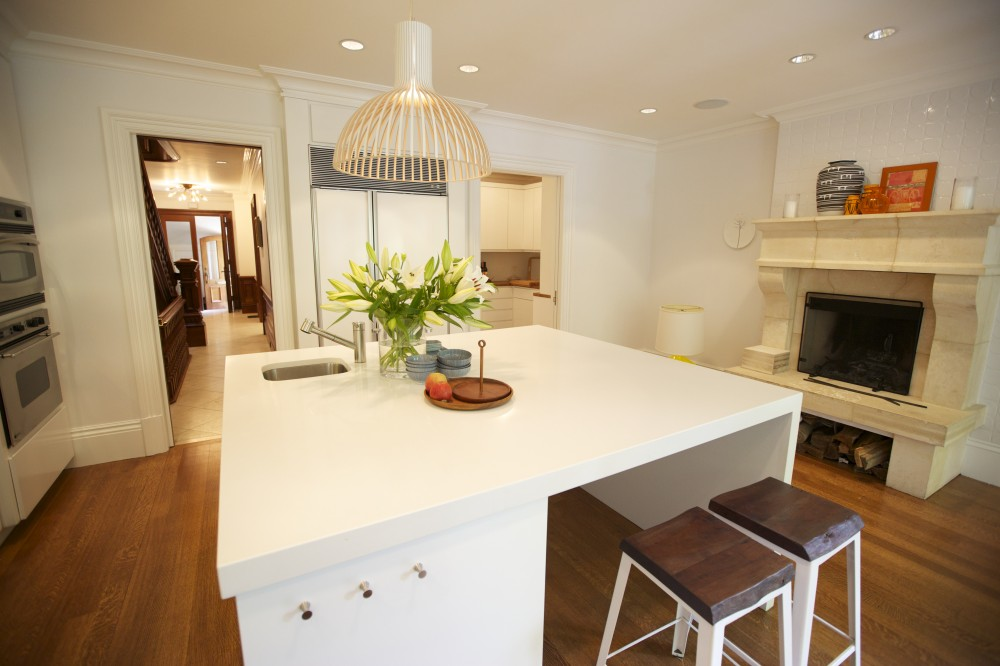 Photo By New England Design & Construction. South End Home Remodel