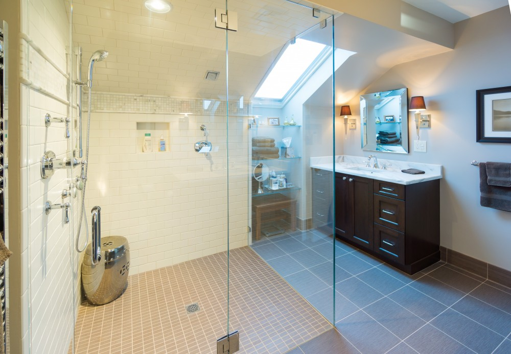 Photo By Modern Yankee Builders. Master Bathroom Remodel