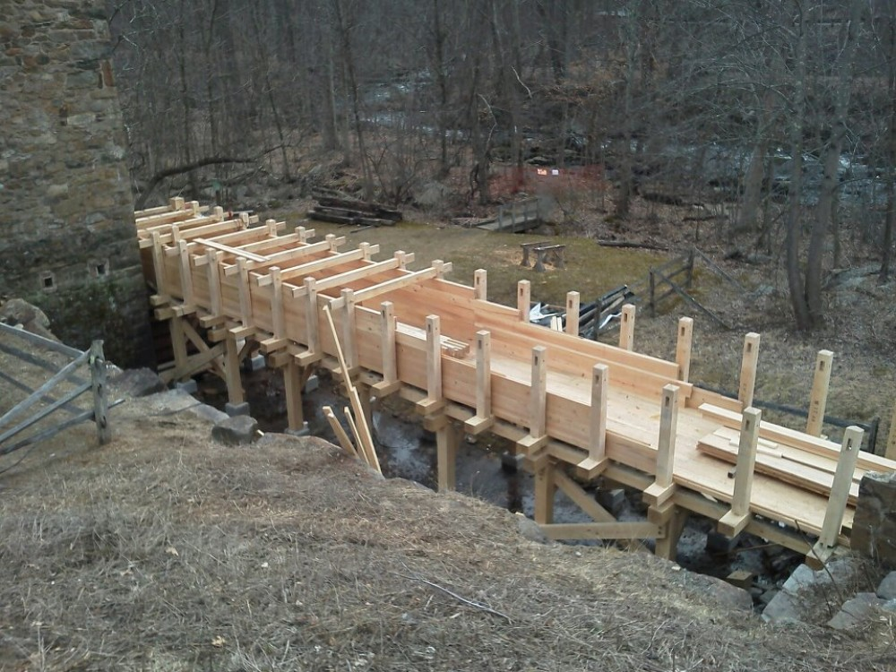 Photo By Lancaster County Timber Frames, Inc.. Flume Restoration
