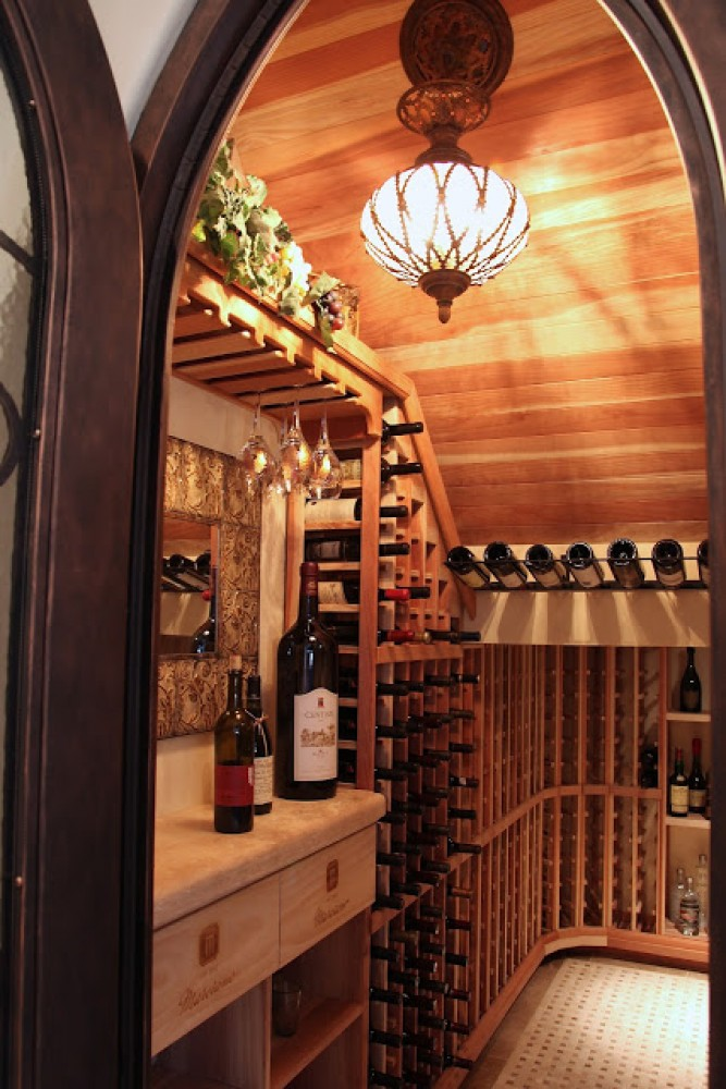 Photo By Hochuli Construction Team. Innovative Wine Cellar In Phoenix, Arizona