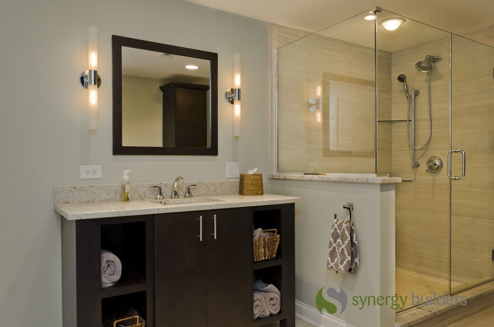 Photo By Synergy Builders. St. Charles Bathroom