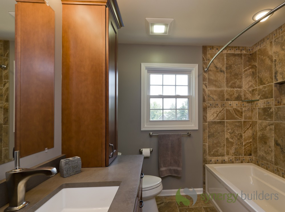 Photo By Synergy Builders. Hall Bathroom