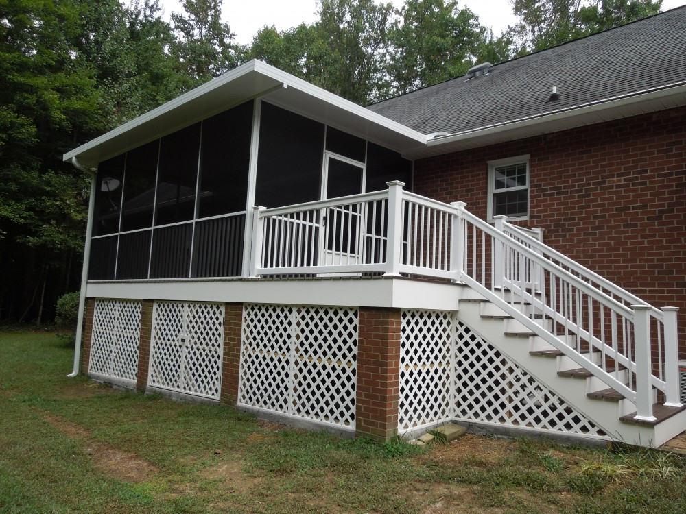 Photo By Miller Building & Remodeling, LLC. Screen Porch & Deck Renovations