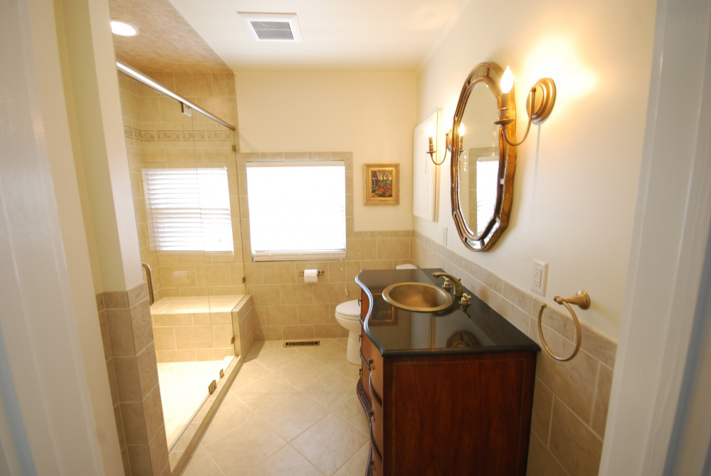 Photo By Miller Building & Remodeling, LLC. Master Bath Renovations