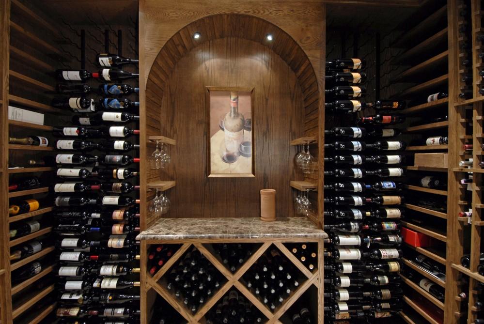 Photo By Kirkpatrick's Construction. Award Winning Wine Cellar